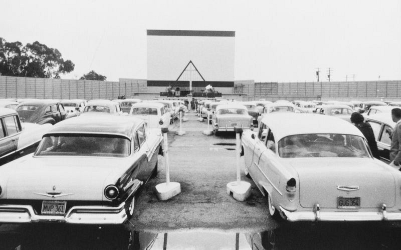Families drive-in Movie theater in Michigan