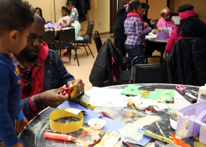 Black-History-Month-MLK-Day-Kid-doing-crafts-with-dad-event