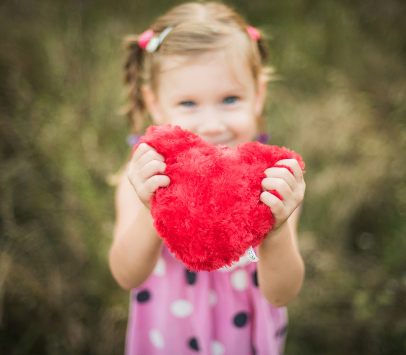 Valentine's Day Girl with Heart